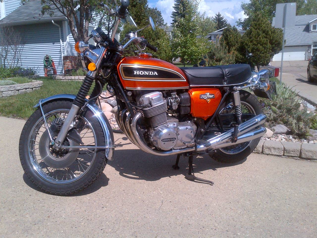 Customer's Motorcycle: Jerome N's HONDA CB750 Custom - Webike