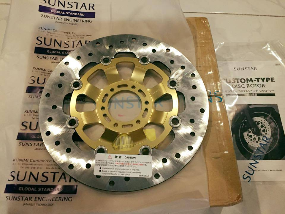 【SUNSTAR】Customized Type Disc Rotor:name's product reviews