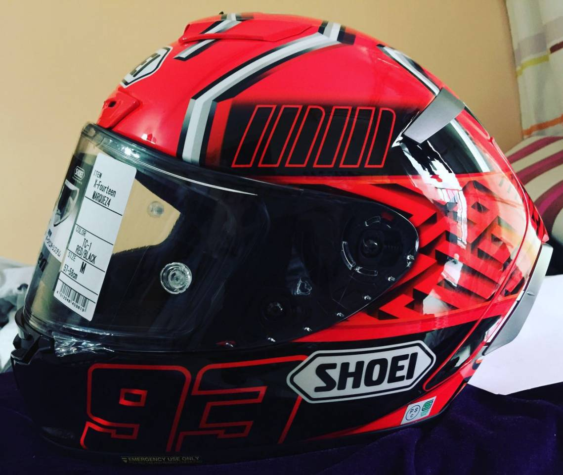 X-14 MARQUEZ4 [TC-1 Red/Black] Helmet