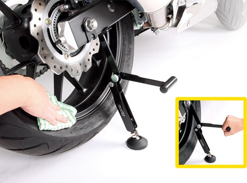Swing Arm Motorcycle Lift : Unit swingarm lift stand overview motorcycle news