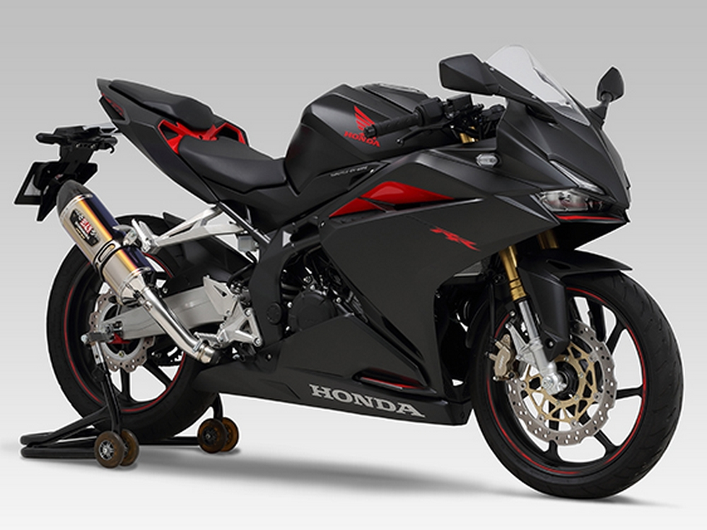 new product yoshimura exhausts slip on r 11 r 77s lineup for honda cbr250rr 2017. Black Bedroom Furniture Sets. Home Design Ideas