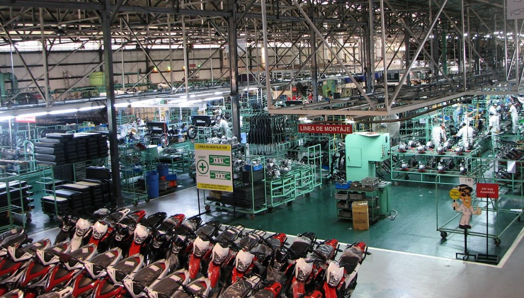 This wide view of the Iquitos assembly plant shows its clean, intelligently laid-out design.