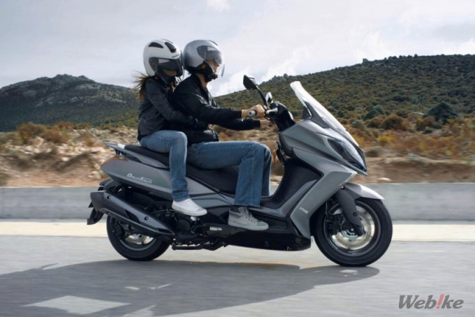 "להפליא New Motorcycle] KYMCO, 125 Scooter largest body ""Downtown 125i ABS PH-88"