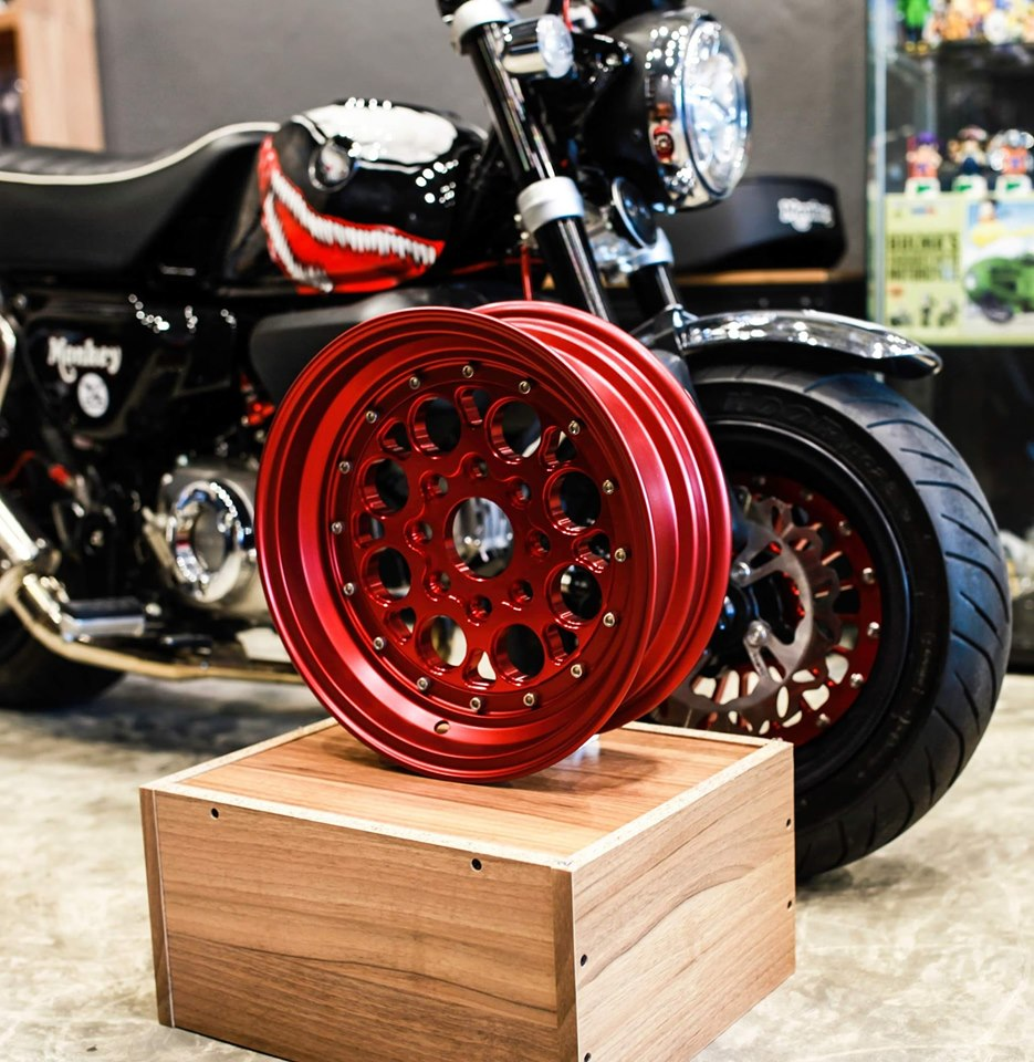 Dproject motorcycle wheels red color