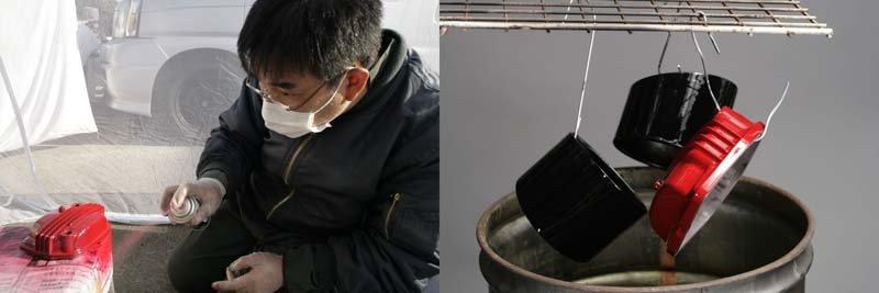 Hướng dẫn cách phun sơn sần hạt cho phụ tùng trên xe máy