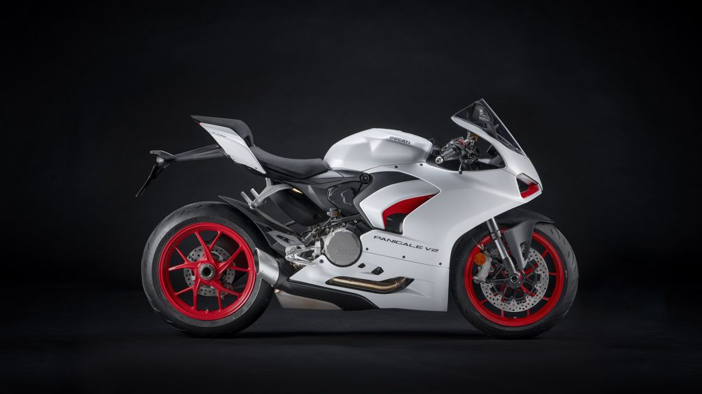 "The Red Essence. In White Video Edition: 2020 DUCATI PANIGALE V2 Introduces New Color ""White Red livery"""
