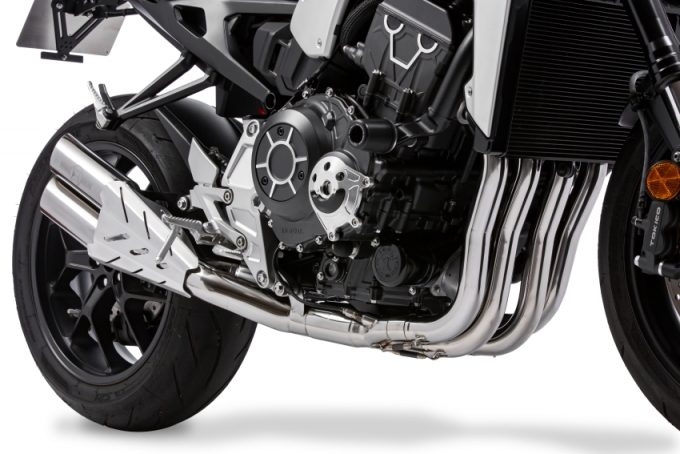 Bộ ống xả đôi thương hiệu Moriwaki dành cho Honda CB1000R